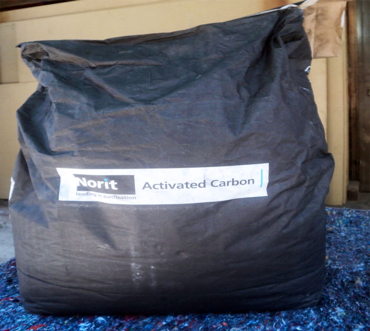 carbón granulado